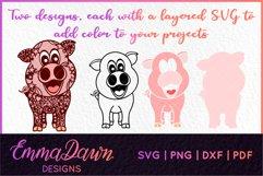 IGGY THE PIGGY SVG MANDALA / ZENTANGLE DESIGN Product Image 2