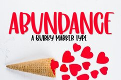 Abundance - A Quirky Clean Marker Type Product Image 1