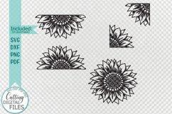 Set of Sunflowers svg dxf cut out cricut laser cut templates Product Image 2
