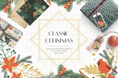 Classic Christmas. Winter clipart set. Product Image 1