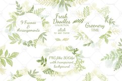 Leaves Branches & Herbs frames. Fresh Doodle collection Product Image 3