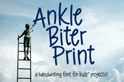 Ankle Biter Print - a childlike handwriting font! Product Image 1