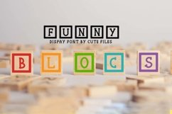 Funny blocks font for building blocks party Product Image 1