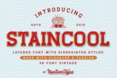 Staincool Layered Font Product Image 1