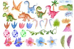 Watercolor Dinosaur Clipart Product Image 3