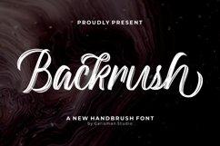 Backrush - Handbrush Script Font Product Image 1