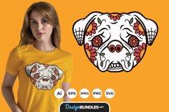 Dog Sugar Skull for T-Shirt Design Product Image 1