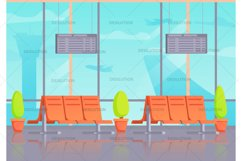 Airport terminal waiting departure. Product Image 1