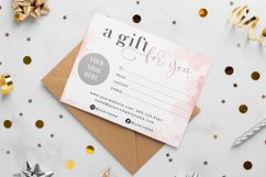 Pink Gift Certificate Template, Editable Gift Certificate Product Image 2