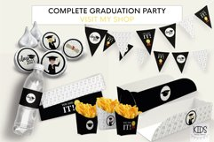 Graduation party Hot dog tray, class of 2021 printable decor Product Image 5