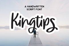 Web Font Kingtips - Handwritten Script Font Product Image 1