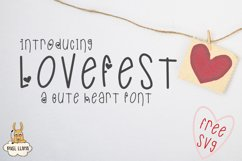 LoveFest A Cute Heart Font Product Image 1