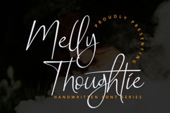 Melly Thoughtie - Handwritten SIgnature Font Product Image 1