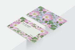 Pink Wild Rose PSD Business Card Template Product Image 2