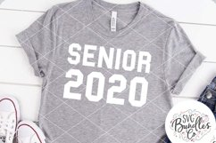 Senior 2020 - Sporty Style - Graduation SVG DXF PNG Product Image 1