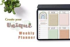 Procreate Brush Stamp Trendy Planner-Planner Procreate Brush Product Image 5