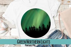 Green Northern Lights Sublimation PNG Product Image 1