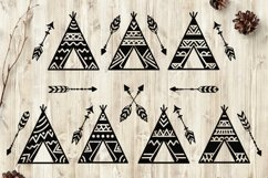 Teepees and Arrows Svg Bundle. Teepee SVG, Boho Arrows SVG. Product Image 1