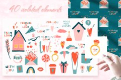 Romantic Valentine's Day. Love patterns, stickers and cards. Product Image 3