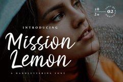 Mission Lemon Handlettering Font Product Image 1