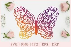Floral Butterfly SVG, Butterfly and Flowers SVG, wildflower Product Image 3