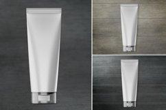 Cosmetic tube mockup. Transparent lid. Product mockup. Product Image 4
