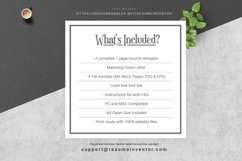 Clean Resume / CV Template Product Image 5