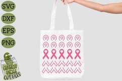 Breast Cancer Ribbon Repeating SVG File Product Image 1