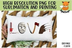 Scary Horror Movie Love PNG for Sublimation Product Image 2