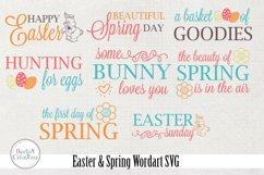 Easter / Spring Wordart SVG Product Image 1