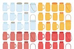Fall Mason Jar Wedding Clipart - Autumn Wedding Graphics Product Image 3