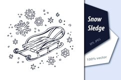 Winter pattern with sledge Product Image 2