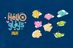 Hello Guys Layered Font Product Image 2