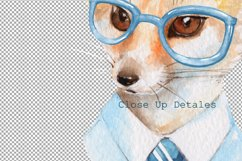 Cool fox. Watercolor clip art Product Image 2