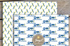 Down Syndrome Awareness Digital Papers and Cipart SET Product Image 3