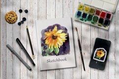 Sunflower Watercolor Sublimation Design Product Image 3