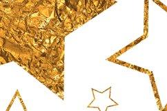 Gold stars clipart Invitation card design Gold foil stars Product Image 3