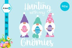 Hunting With My Gnomies, Funny Easter Gnomies Svg Product Image 2