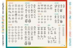 Photoshop FAMILY CLIPART custom portrait people graphics Product Image 6