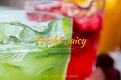 Homemade lemonade. Three decanters of different lemonade. Product Image 1