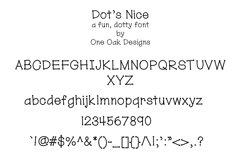 Dot's Nice - a fun, dotty font Product Image 2
