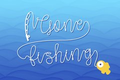 Gone Fishing - a fishing line font Product Image 1