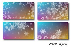 Christmas Backgrounds. 12 snowflake digital paper Product Image 2