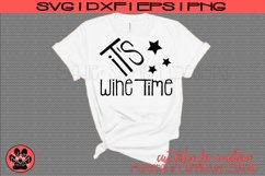 It's Wine Time | Wine Lover SVG Cut File Product Image 1