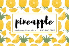 Pineapple hand drawn clip art Product Image 1