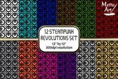 "12 Seamless Pattern - 12"" x 12"" Steampunk Revolutions Set Product Image 1"