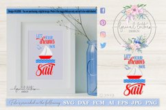 Let Your Dreams Set Sail LL036E SVG DXF FCM EPS AI JPG PNG Product Image 1