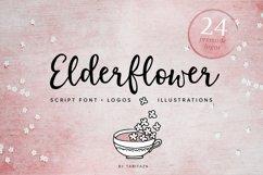 Elderflower script  logos Product Image 1
