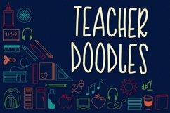Teacher Doodles - A Dingbat Back To School Font  Product Image 1