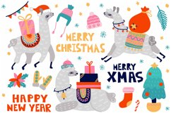Christmas Llama cards Product Image 2